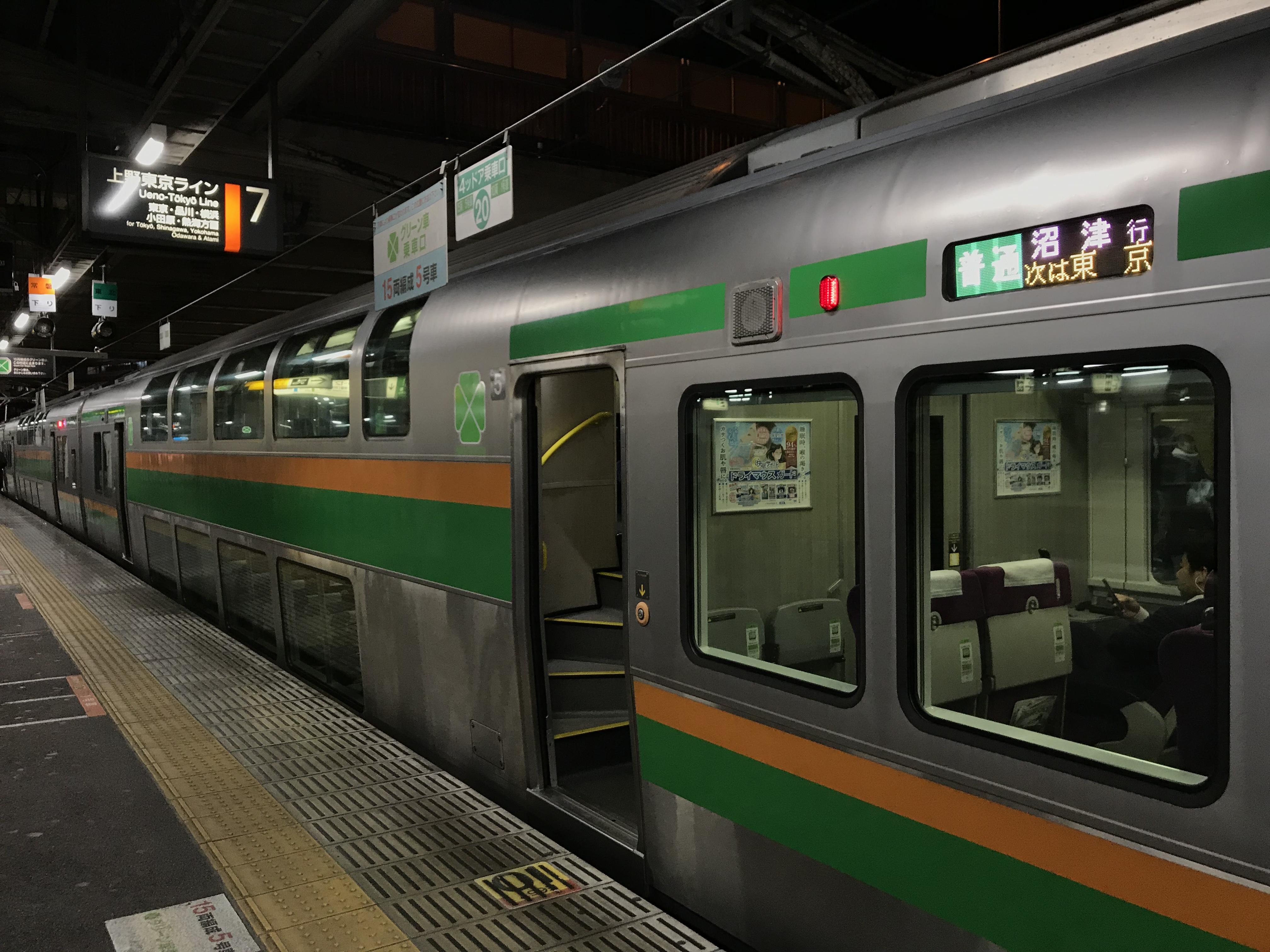 関東大回りの旅【1枚のグリーン券で乗継特例を使うと快適に?!】