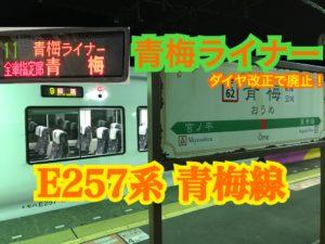 ダイヤ改正で廃止!青梅ライナーに乗車!【惜別列車の旅2019】