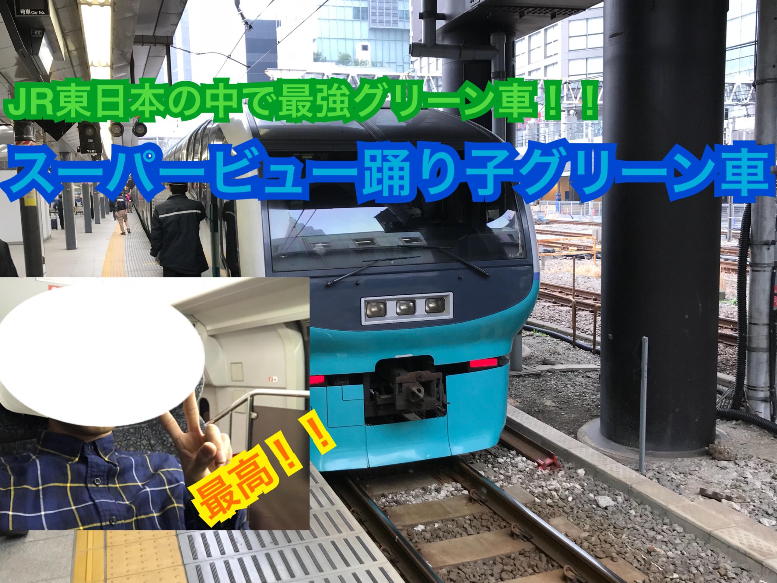 JR東日本最強グリーン車!スーパービュー踊り子グリーン車の座席、設備をご紹介!