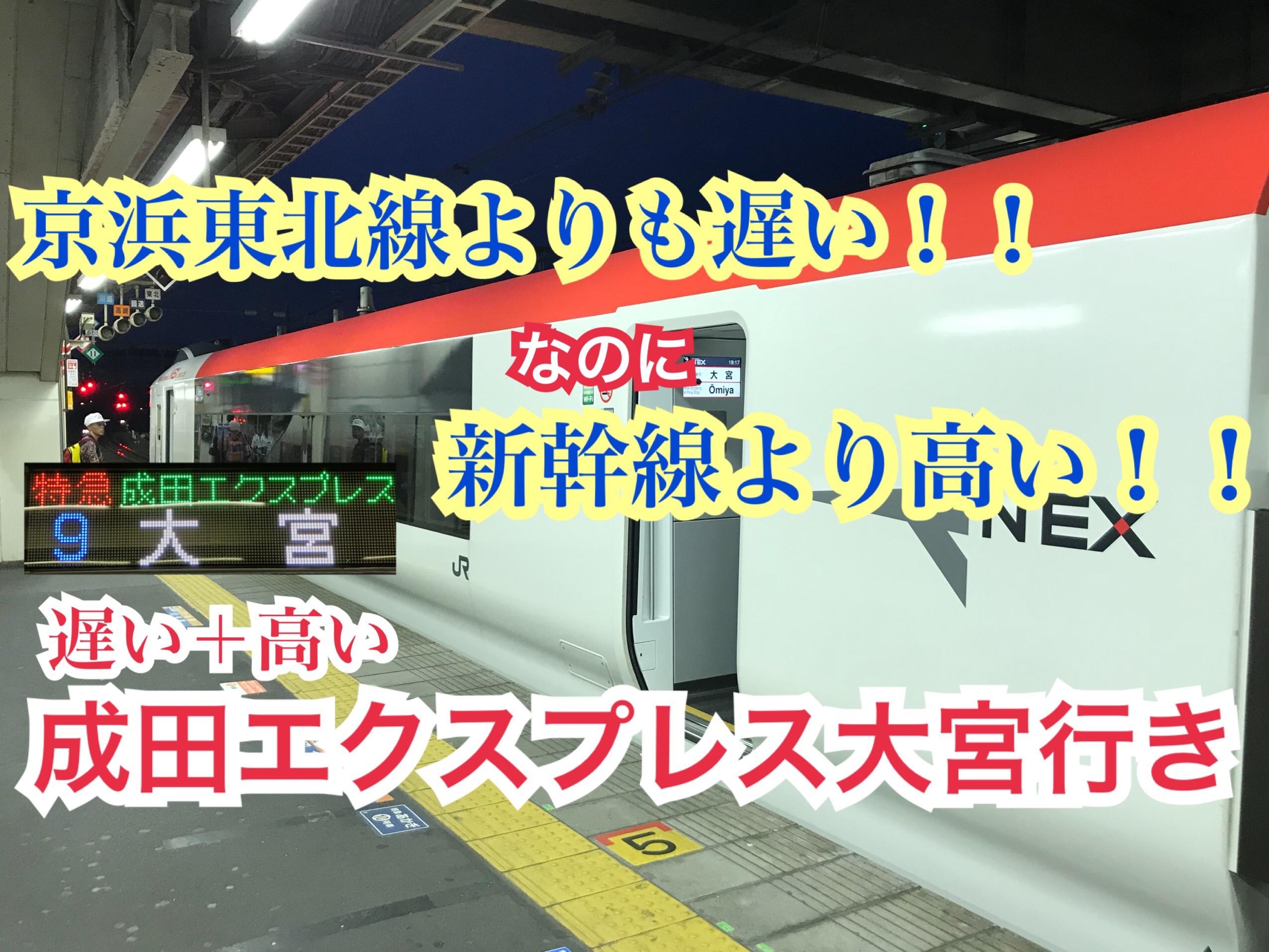 京浜東北線より遅い成田エクスプレス大宮行き。高くて遅い成田エクスプレス!!【N'EX 大宮】