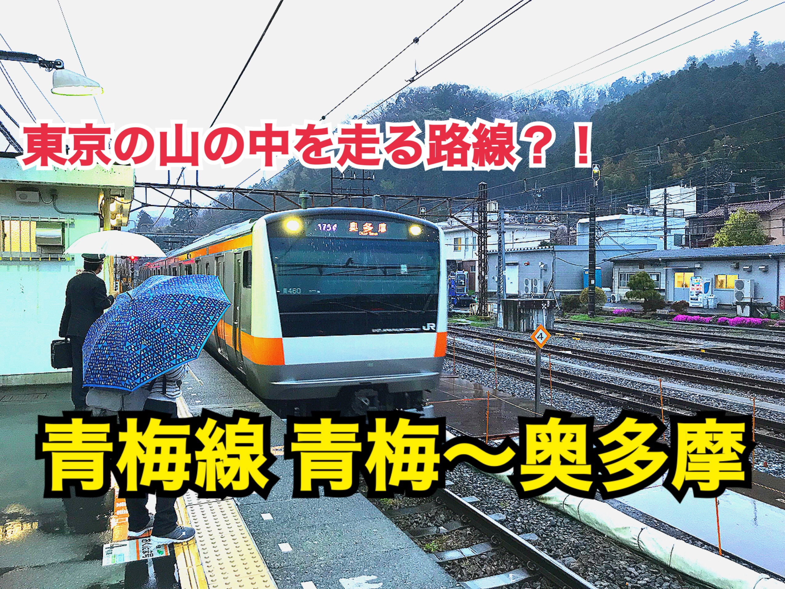 近くて楽しい奥多摩へ!青梅線青梅〜奥多摩駅間に乗車!【関東めぐり東京編】