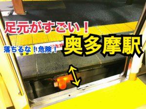 電車とホームの間がヤバい!奥多摩駅の意外なところを徹底紹介!【関東めぐり東京編】