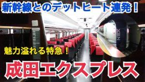 【楽しい!】成田エクスプレス乗車記 新幹線とのデットヒート連発?!