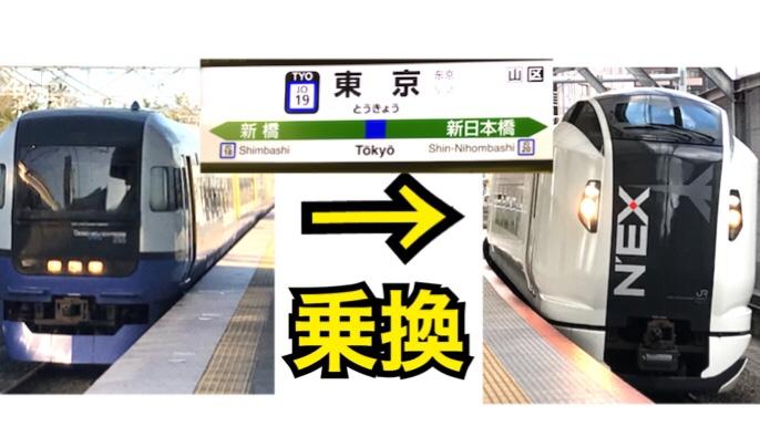 【便利】千葉から横浜の移動はしおさい号と成田エクスプレス号の同一ホーム乗換で便利で快適!【西東京千葉】