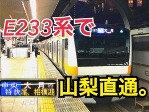 東京から山梨へ直通!中央特快で大月、富士山まで行けます!【山梨千葉】