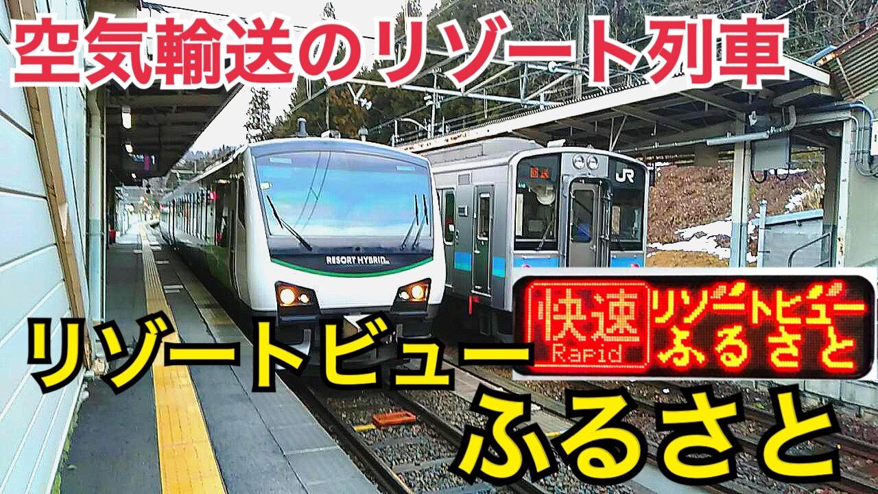 【リゾート列車】空気輸送のリゾートビューふるさとに乗車!姨捨の夜景も楽しもう!【伊豆信州周遊旅】