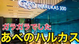 日本一でもガラガラでした。あべのハルカスで大阪を眺めたら、すごかった!大阪を感じるならあべのハルカス!【西日本1周の旅】