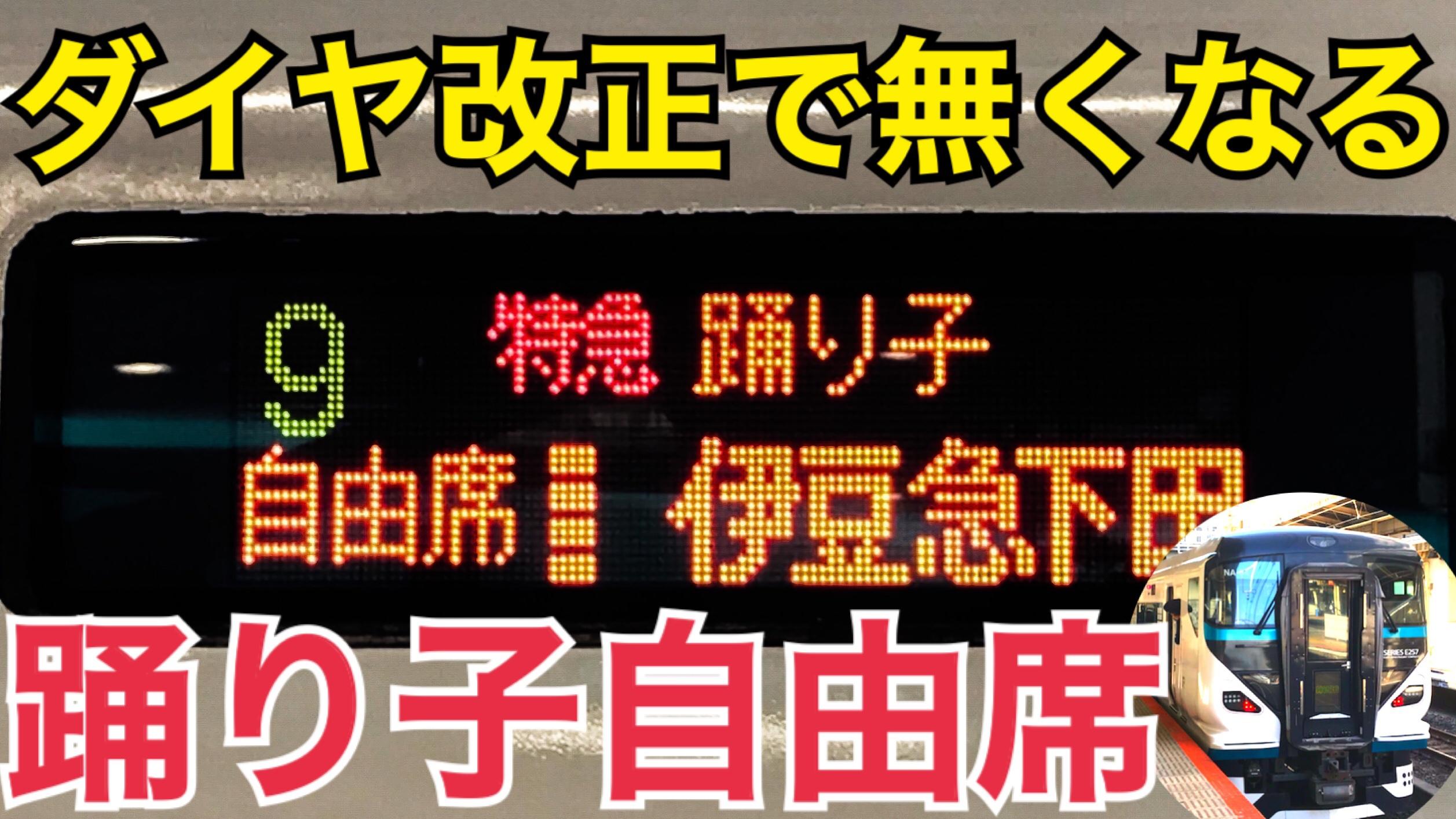 【ダイヤ改正で廃止】E257系踊り子の自由席に乗車!全車指定席化への準備も!【新横浜プリンスホテル】