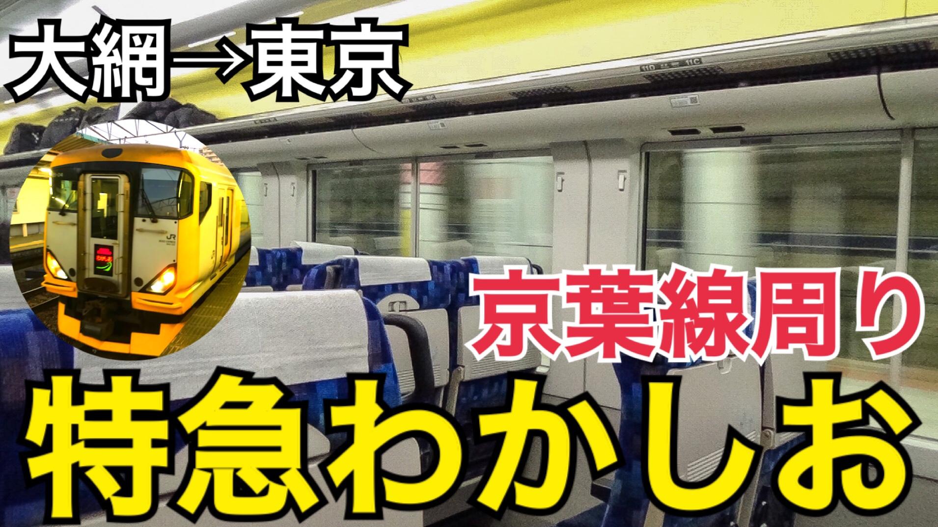 東京の夜景を楽しもう!外房京葉線特急わかしお号の旅【関東満喫の旅】